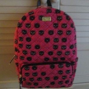 $88 LUV BETSEY Johnson DANNY Cat Quilted Backpack
